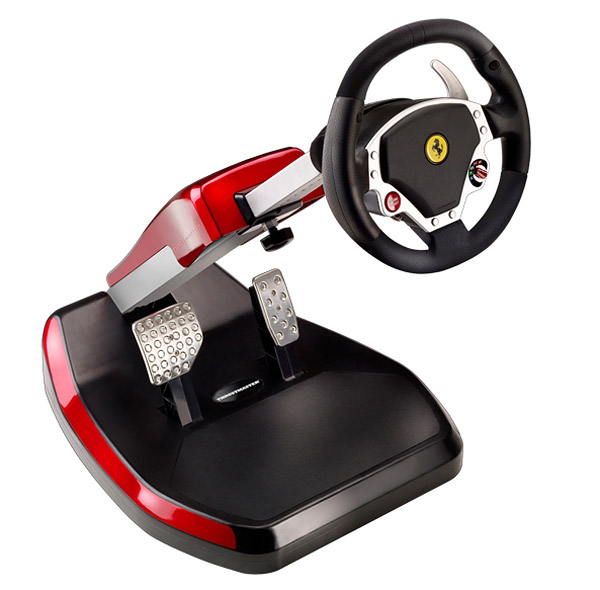 ferrari themed racing cockpit